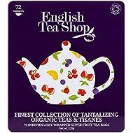 English Tea Shop Super Fruit Gift Tin -  72 Paper Tea bag Sachets