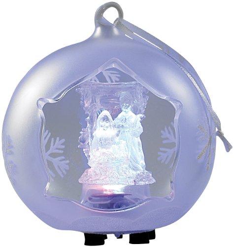 Lunartec LED Weihnachtsbaumkugeln: Mundgeblasene LED-Milchglas-Ornamente in Kugelform, 2er-Set (Weihnachtskugeln LED) -