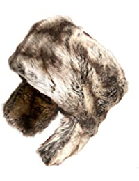 b51e9b544bd7a Ladies Brown Mix Luxury Faux Fur Cossack Style Trapper hat with Faux Fur  Ears in sizes