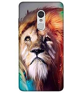 For Xiaomi Redmi Note 4X dangerous lion ( dangerous lion, lion, nice lion, cute lion ) Printed Designer Back Case Cover By CHAPLOOS