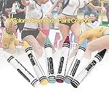 6 Farben Body Paint Buntstifte, Neon Körperfarbe Buntstifte Pigment Kinder Gesicht Malerei Glow Fluoreszierende Fußball