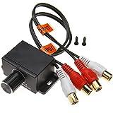 ENET - Amplificatore Audio per Auto, 4 RCA, per Bassi e RCA, con regolatore del Volume