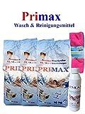 3 x10 kg Primax Waschpulver mit 250ml Waschmaschinenreiniger + 1 Microfasertuch