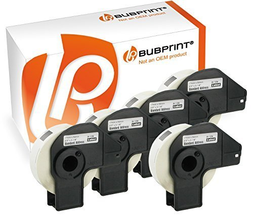 Preisvergleich Produktbild Bubprint 5 Etiketten kompatibel für Brother DK-11204 DK 11204 für P-Touch QL1050 QL1060N QL500 QL550 QL560 QL570 QL580N QL700 QL710W QL720NW 17x54mm