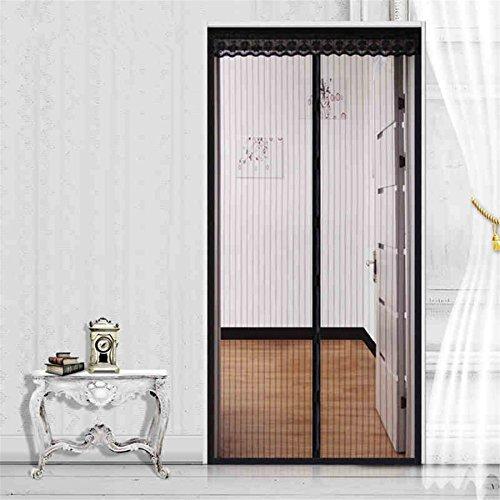 Fuya magnetisch Sheer Tür Vorhang Tür Moskitonetz Magnetverschluss Dual Vorhang Mesh, Durchsichtig, braun, 90cm X 210cm