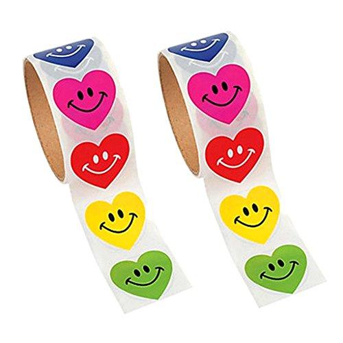 MagiDeal 200 Stück Herz Aufklebe / Herzchen Sticker, 6 Farben, Deko für Gästebuch, Wand, Schreibtisch, Kühlschrank, Handy, Laptop usw. (Schreibtisch-kühlschrank)