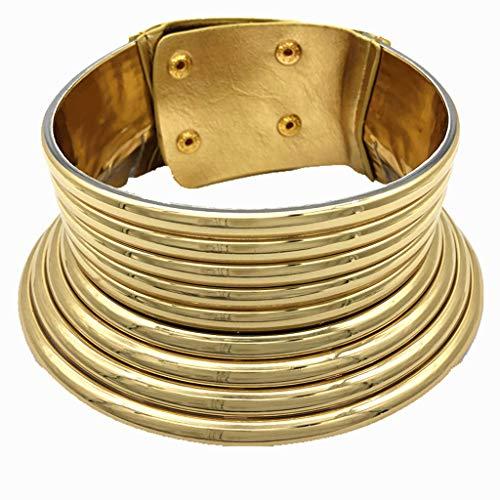 Lomsarsh Estilo étnico africano Personalidad creativa Metal Collar grande Collar Collar Ornamento - Collar simple y de moda Los mejores regalos para mujer niña