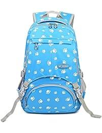 Fanci Large Capacity School Bag Dog Paw Prints Waterproof Shoulder Backpack For Girls - B01LZ4R6SV