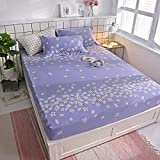 huyiming Verwendet für bedrucktes Baumwolltwill-Blattmaterial 1,8 m Bettdecke Simmons-Matratze, rutschfeste Schutzhülle 120 * 200 cm