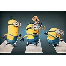 Póster Los Minions. Abbey Road