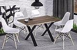 Endo Esstisch Endo Stol X 210 Küchentisch Industrial Loft Design Tisch Metallgestell // San Remo Eiche Trüffel