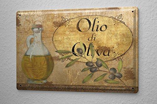 arredamento-cucina-cartello-targa-in-metallo-bottiglia-di-olio-olive-branch-olive-della-parete-piast