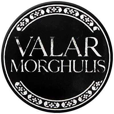 Game Of Thrones Valar Morghulis Faceless Men Pin Badge Button Brooch Official