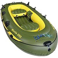 Blueborn Manta Angelboot 280x155 cm Ruderboot für 3 Personen Schlauchboot Boot Paddelboot mit 280kg Tragkraft