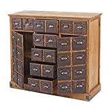 Mendler Apothekerkommode HWC-F33, Schubladenschrank, Tanne Holz massiv Vintage 90x100x35cm