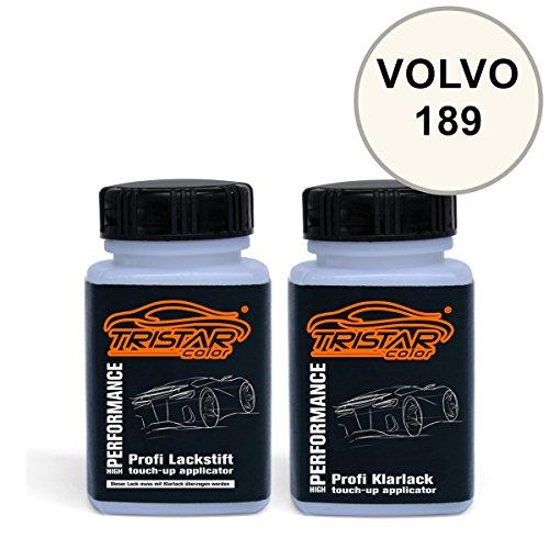 Preisvergleich Produktbild Lackstift Set VOLVO 189 POLAR WHITE 1982 - 2004 - Autolack & Klarlack - je 50 ml