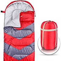Saco de dormir – sobre ligero portátil, impermeable, comodidad 4 estaciones, con bolsa