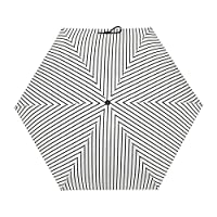 Casloyal Ultra Light, Ultra Mini, Ultra Protective, Ultra Cool Umbrella, Your Intimate Helpmate in This Season! (White Stripe)