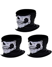 eBoot Pasamontañas de Calavera Sin Costura Máscara Facial de Tubo de Poliéster (3 Paquetes)