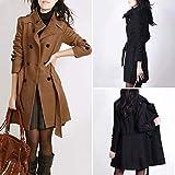 Jokereader Long Sleeve Winter Woolen Coats Women Pockets Slim Fit Parkas Plus Size Winter Warm Windshield Coat