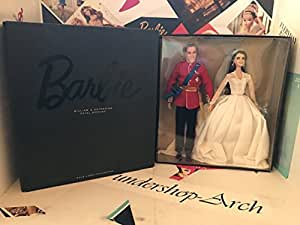 Barbie William and Catherine (Kate Middleton) Royal Wedding Collector Gold Label Exclusive Doll Giftset by Mattel