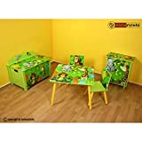 Ghorbani Kinderkommode Kinderschrank Kinder Schrank Regal Dschungel +Schubladen