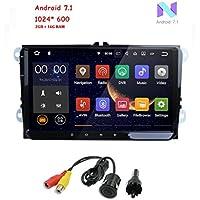 freeauto para Volkswagen Golf, Polo, Passat, Tiguan, Jetta 9 Inch Android 7.1 doble 2 DIN coche Receptor de vídeo estéreo Radio GPS Navi EOS + América del ...