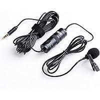 Boya Microfono BY-M1 lavalier a condensatore omnidirezionale con clip da bavero per fotocamera DSLR/smartphone/videocamere/registratori audio–nero