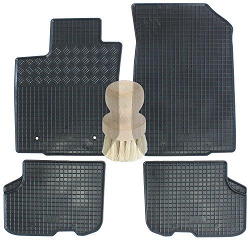 Preisvergleich Produktbild ZentimeX Z734174 Gummifußmatten fahrzeugspezifisch mit Reinigungsbürste