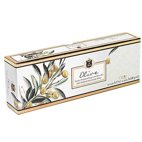 OLIVOS Lux Line Savon Olive 3 x 100 g