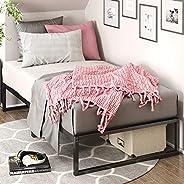 إطار سرير معدني من Lorelei مقاس 30.48 سم، إطار سرير منصع، مزدوج