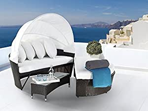 Outdoor Himmel Sofa–Cabrio Rattan Sofa-Set–Sylt Lux