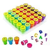 Kids Kinder Jungen Mädchen Bodenmatte mti 36selbstfärbender Stempel Set Art & Craft Skil Project Spielzeug Lernen Alphabet Buchstaben Zahlen Buchstabieren