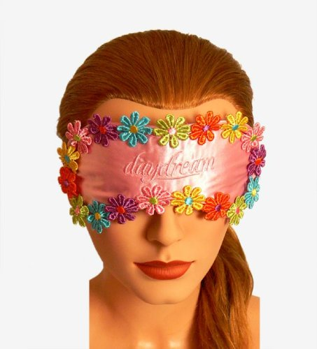 Daydream Schlafmaske Schlafbrille Schlaf Brille Augenmaske Augen Maske Blume Blumen Flowers pink mit Kühlmaske Kühlkissen