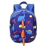 Samtlan Toddler Dinosaur Zaino con guinzaglio, zaino anti-perso per la scuola materna, blu