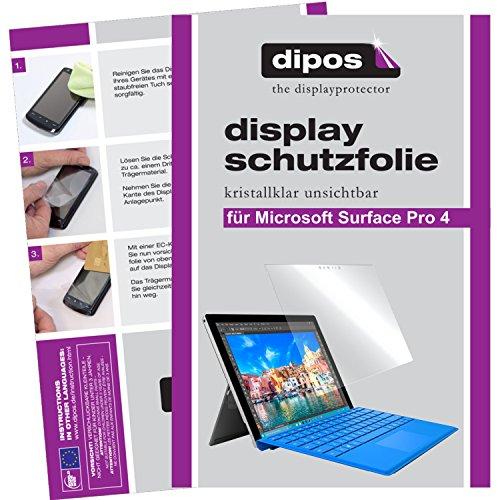 dipos I 2X Schutzfolie klar passend für Microsoft Surface Pro 4 Folie Displayschutzfolie