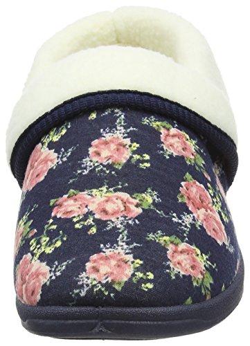 Dunlop - Faye, Pantofole Donna Blu (Blu (Navy))