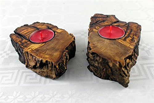 two-wooden-candle-holders-hand-carved-with-free-scented-tea-lights-perfect-christmas-decoration-or-g