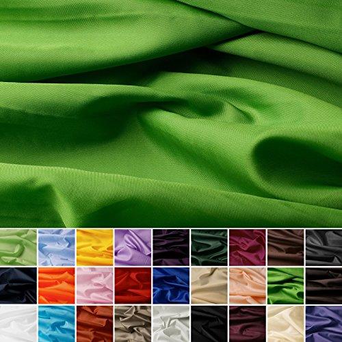 Taffetas de soie - tissu universel en 27 couleurs - tissu de doublure - décoration - vendue au mètre (vert pomme)