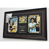 Molto rara Maradona Signed Pele e foto