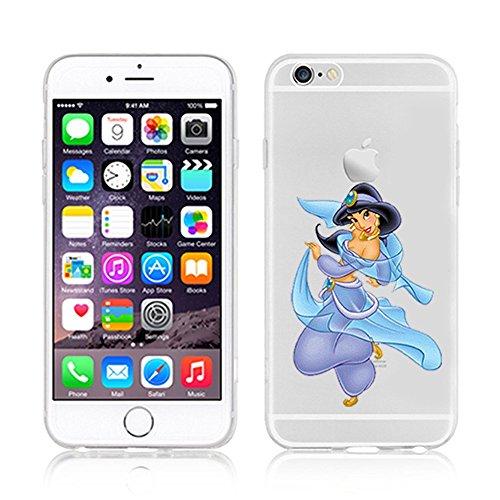 New Disney Prinzessinnen transparent klar TPU Soft Case für Apple iPhone 6Plus/6Plus .S, plastik, SNOW WHITE .1, APPLE IPHONE 6+/6+S JASMINE .1