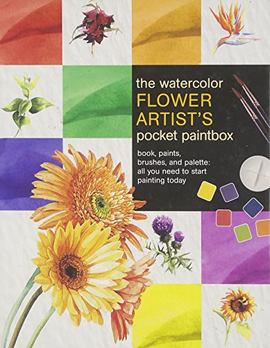 Watercolor Flower Artist's Pocket Paintbox [With Instructional Book and 6 Paints and 2 Paint Brushes (and Palette)]