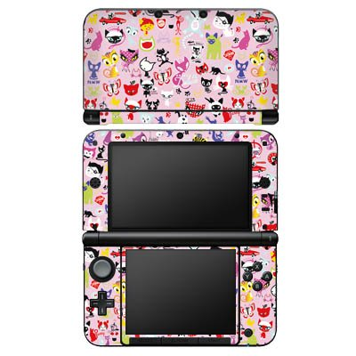 Preisvergleich Produktbild Nintendo 3DS XL Design Skin Folie Aufkleber - Pussy Deluxe around the world