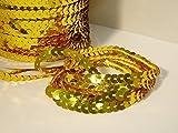 Paillettenband, 5 m 21 verschiedene Farben, Farben:Gold