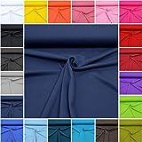 MAGAM-Stoffe Micha Interlock Jersey Uni 100% Baumwolle Oeko-Tex Meterware 50cm (17. Dunkelblau)