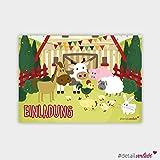 """detailverliebt! 15 tierisch süße Einladungskarten """"Motiv Bauernhof"""""""