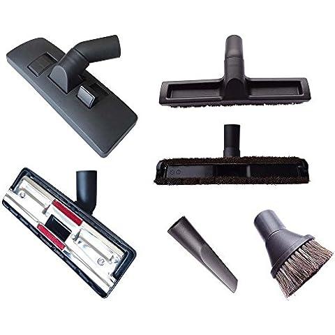 4diversi ugelli per aspirapolvere (-per tappeti, pavimenti duri; fughe, & ventosa pennello...