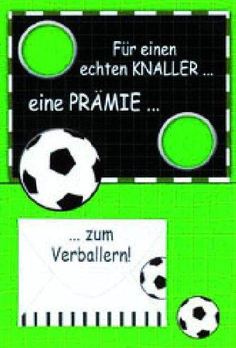 Glückwunschkarte Grußkarte Geldkarte Geburtstag Fußball 41-1865