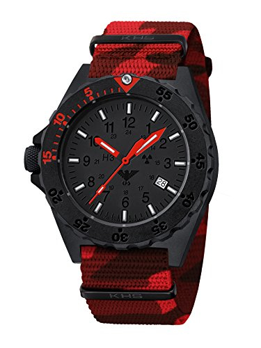 Shooter Red KHS.SHRED.NC4, Natoband Red Camouflage, KHS Tactical Watch, Einsatzuhr