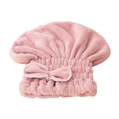IBLUELOVER Badetuch aus Mikrofaser, Pflegetuch für Schnelles Trocknen von magischen Haaren, Turban, Sehr saugfähig, wassergeschützt, Ihr Haar, trocken, bequem, weich, für Spa Bad Sauna Reise Rosa